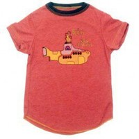 The Beatles Yellow Submarine Red Toddler Shirt - Toddler 2-6 yrs Baby Wit