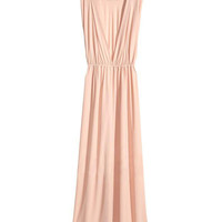 Back V Sleeveless Chiffon Maxi Dress