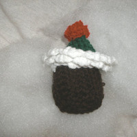 Handmade crocheted Cupcake Christmas by CanadianCraftCritter