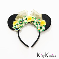 Princess Tiana Mouse Ears Inspired Headband, Princess and the Frog Dress, Princess Tiana Costume, Princess Tiana Birthday Party, Disney Ears