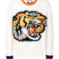 Indie Designs Tiger Intarsia Knitted Jumper