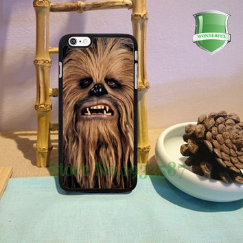 Face Chewbacca Star Wars Original Black Cell Phone Cases For Iphone 7 7plus 6 6 plus 6s 6splus 5 5s 5c 4 4s M#1045