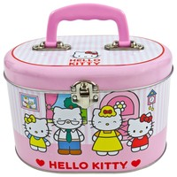 Hello Kitty - Family Oval Tin Tote Box