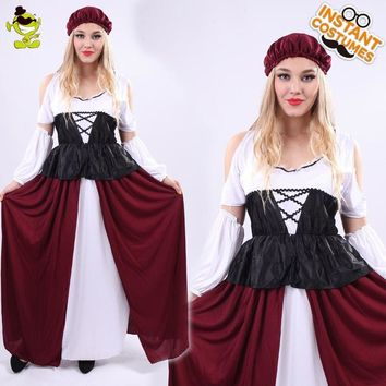 New Design Women Medieval Sexy Princess Costume Adult Fancy Long Dress Cosplay Outfits Women Renaissance Noble Princess Costume