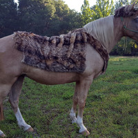 Majestic Deer Horse Costume - Deer Equine Costume - Antlers and Faux Fur Horse Costume