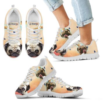 Cute Pug Dog Print Running Shoes For Kids- Free Shipping