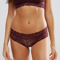 Pieces Brazilian Lace Knickers at asos.com