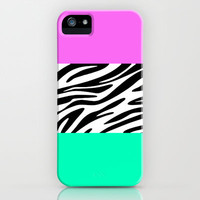 Zebra National Flag iPhone Case by MN Art