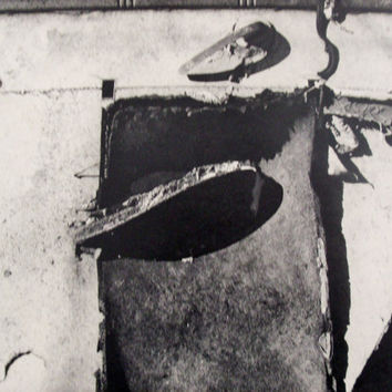 Walker Evans Photogravure Old Car Door Signed In Plate, Black and White Print, Wall Hanging