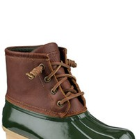 Sperry Top-Sider Saltwater Duck Boots for Women in Brown and Green STS