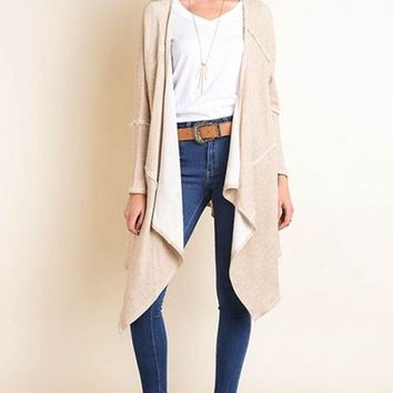 Kourtney Knit Cardigan - Oatmeal - FINAL SALE