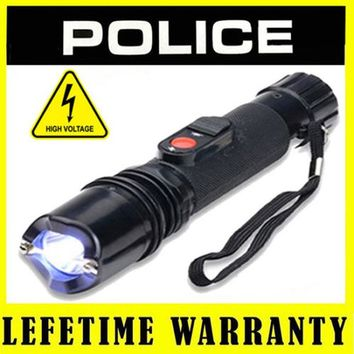 Stun LED Flashlight Stun Gun Self-Defense Defend Yourself Rechargeable Electric Tazer Flashlight