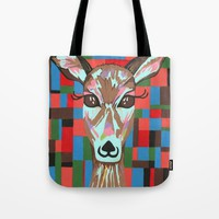 Darling Deer Tote Bag by Kathleen Sartoris
