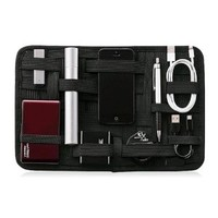 Multifunction Black Nylon Gadget Organizer Case Sleeve