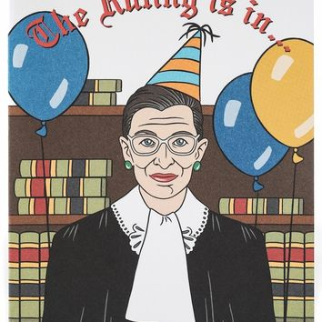 The Ruling is In Ruth Bader Ginsburg Birthday Card
