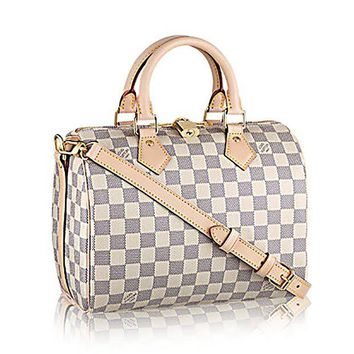 DCK4S2 Authentic Louis Vuitton Speedy Bandouli¨¨re 25 Cross Body Leather Handles Bag Article: N41374