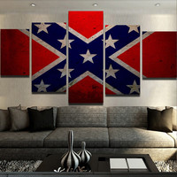 Confederate Flag Canvas Set