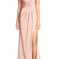 Faviana Ruched Satin Gown | Nordstrom