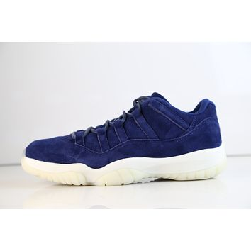 BC SPBEST Nike Air Jordan Retro 11 Low Jeter RE2PECT Binary Blue Suede AV2187-441 (NO Codes)
