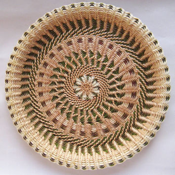 Large Handwoven Wicker Plate