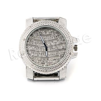 HIP HOP RAONHAZAE SCHOOLBOY Q SILVER LAB DIAMOND FINISHED WATCH