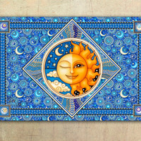 "Celestial Tapestry Wall Hanging 50""x75"" by Artist Dan Morris titled Twilight"