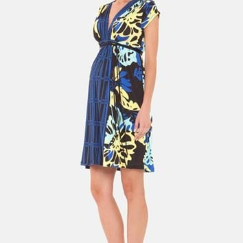 Women's Olian 'Ariana' Print Jersey Maternity Dress
