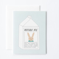 Missing You Bunny Card