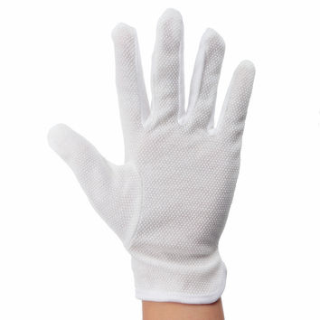 White Cotton Heat Resistant Protective Glove Hairdressing Hair Straighteners