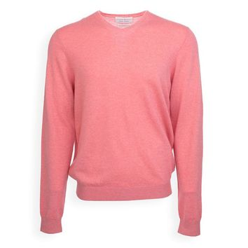 Strong Boalt Christopher Cashmere L/S V-Neck Pink