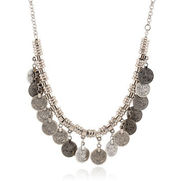 Gift Shiny Jewelry New Arrival Stylish Vintage Alloy Tassels Necklace [6044396225]