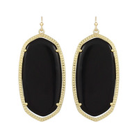 Kendra Scott Danielle Drop Earrings Black