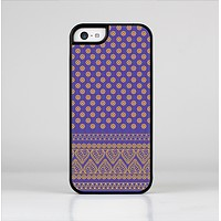 The Tall Purple & Orange Vintage Pattern Skin-Sert Case for the Apple iPhone 5c