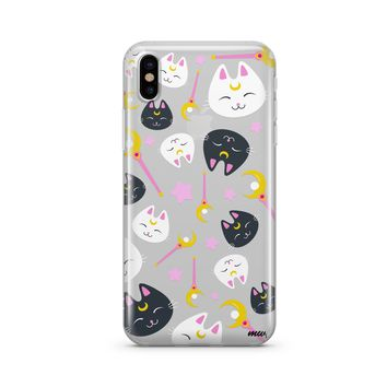 Sailor Kitty iPhone & Samsung Clear Phone Case by @okitssteph