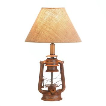 Iron Vintage Camping Candle Holder Lantern Table Lamp