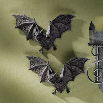 Design Toscano The Vampire Bats of Castle Barbarosa Wall Sculptures - PD0054 / PD90054 / PD990054 - All Wall Art - Wall Art & Coverings - Decor