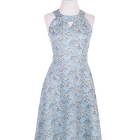 Afternoon Allure Dress Blue