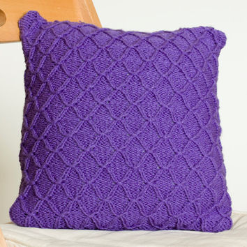 instant download pdf knitting pattern smocked pillow cover knit cushion cover pattern home