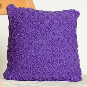 Instant Download PDF Knitting Pattern - Smocked Pillow Cover, Knit Cushion Cover Pattern, Home Decor Knitting Pattern, DIY Pillow Case