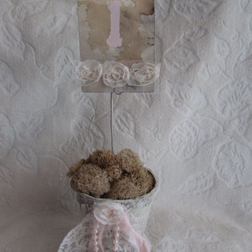 Shabby Chic Table Number Centerpiece Wedding Baby Shower Decor Photo Holder
