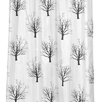 BenandJonah Collection Fabric Extra Long Shower Curtain 70 X 84 Inch Autumn Tree