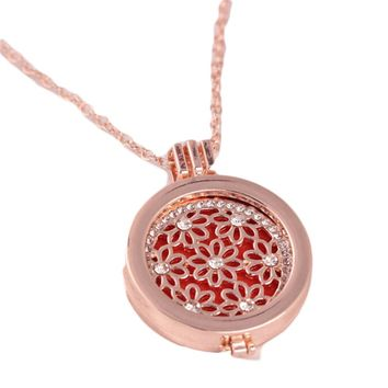 New long personalized aroma can open the box alloy pendant hollow necklace