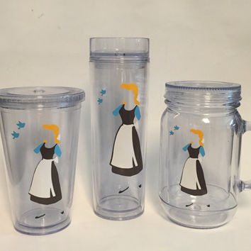 Disney's Cinderella wine glass or Tumbler