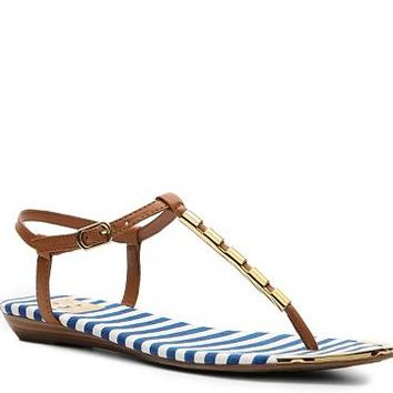 DV by Dolce Vita Caspian Striped Flat Sandal