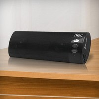 Portable Bluetooth Stereo Speaker with Mic for Cellphone, Laptop, MP3, iPhone, iPod ** Includes Mini-USB Charge Cable**