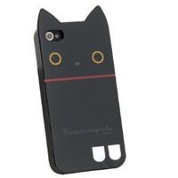 IDS Rilakkuma Cute Cat TPU Soft Case for iphone 4-Black