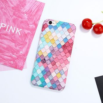 3D Mermaid Scales Hard iPhone Phone Case For 7+,7,6+,6 (S)