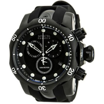Invicta 80578 Men's Venom Quartz Chronograph Black Dial Rubber Strap Dive Watch