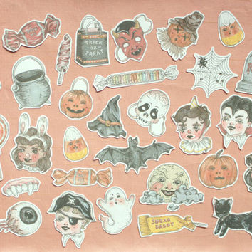 halloween sticker set ~ 31 pack