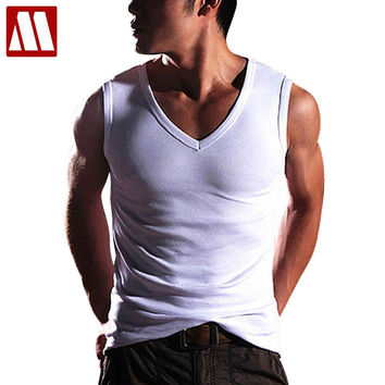 New High Quality  fashion Mens Clothing Robust Body Slimming Undershirt Vest Muscle Tank Tops